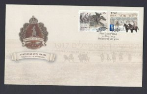 AFD1358) Australia 2013 Battle of Beersheba Israel Joint Issue FDC