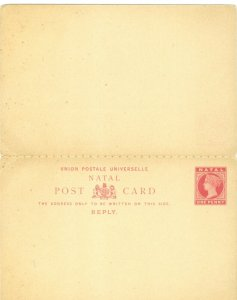 Bargains Galore Natal penny unused stamped reply postcards