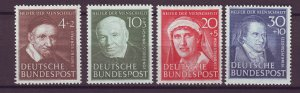 J25174 JLstamps 1951 germany set mh #b320-3 famous people
