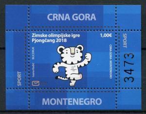 Montenegro 2018 MNH Paralympics PyeongChang 2018 Winter Olympics 1v M/S Stamps