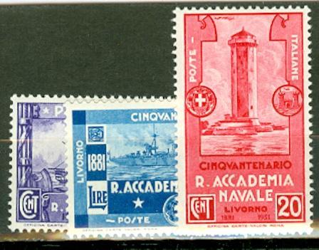 Italy 265-7 MNH CV $165