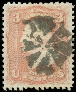 momen: US Stamps #85 Used PF Cert VF/XF