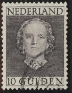Netherlands Scott 322 used 1949 Queen Juliana 10g