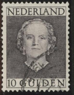 Netherlands Scott 322 used 1949 Queen Juliana 10g