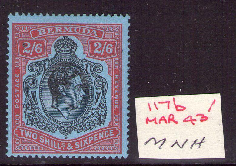 BERMUDA GEORGE VI SG117b March 43 Ptg. Superb MNH condition.