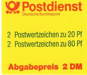 Germany #1528b Complete Booklet CV $4.25 (X9499)