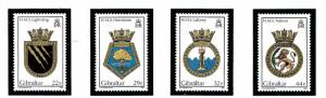 Gibraltar 492-95 MNH 1986 Royal Navy Ship Crests