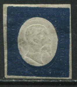 Sardinia 1854 20¢ indigo mint no gum