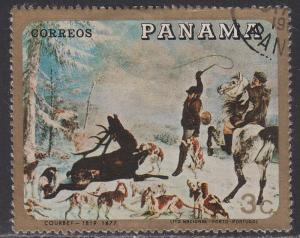 Panama 493a Hunting on Horseback 1968
