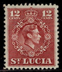 ST. LUCIA GVI SG153, 12c claret, M MINT.