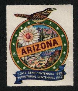 1962 Arizona Semi-Centennial & 1963 Territorial Centennial Poster Stamp