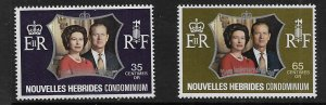FRENCH NEW HEBRIDES 188-189 MNH  COMMON DESIGN TYPES 1972