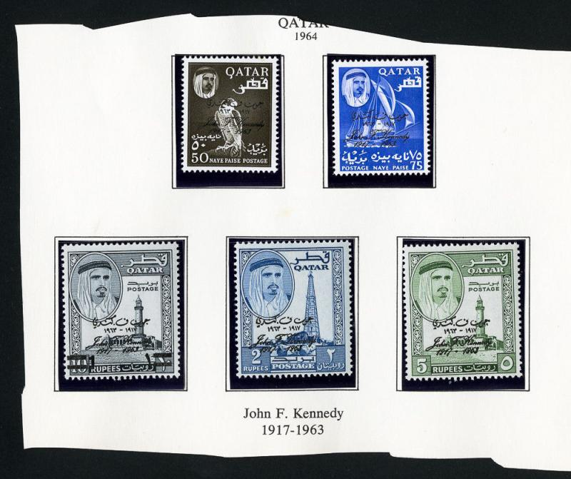 Qatar Stamps Kennedy Set of 5 MNH