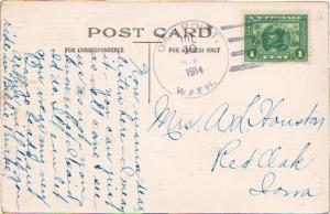 United States Washington Oak Point 1914 4b-bar  1851-1937  PC  1c Panama Paci...