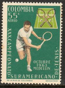 COLOMBIA C454, SOUTH AMERICAN TENNIS CHAMPIONSHIPS. MNH. (283)