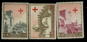 San Marino #305-7 MINT F-VF OG NH Cat$60