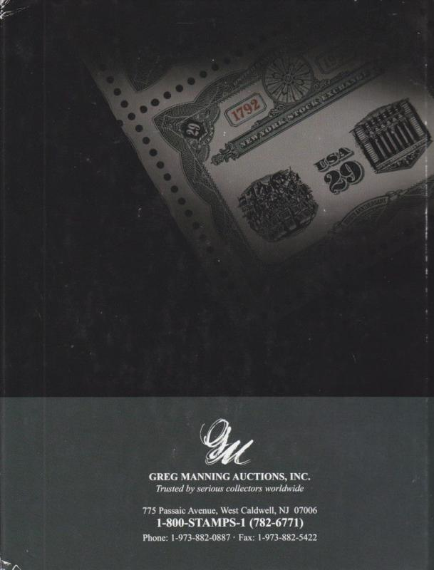 NY Stock Exchange Invert & International Rarities Auction Catalog, Greg Manning