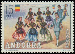1972 Andorra Spanish Administration #69-74, Complete Set(6), Never Hinged
