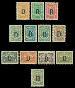 COLOMBIA 1927 Airmail SCADTA Consular ovpt. DENMARK Scott# CLD35-45 mint MH