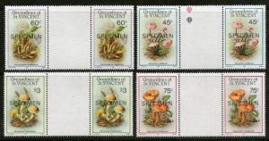 St. Vincent Grenadines 1986 Mushroom Fungi Plant SPECIMEN Sc 533-36 Gutter Pa...
