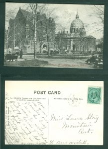 Canada. 1908 Postcard. Corner Dominion Square Montreal. People. Sc# 89.