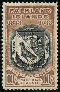 FALKLAND ISLANDS #75 (SG137) -- XF OG LH GEM -- CV $1,160 HW3030