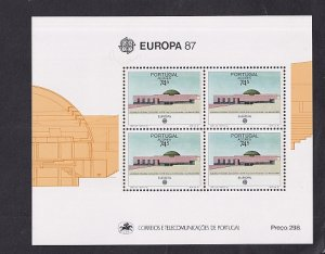 Portugal Azores  #363a  MNH  1987    Europa sheet  modern architecture