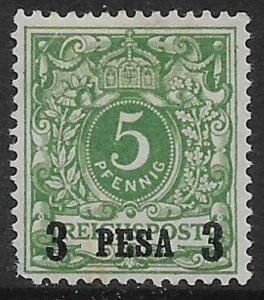GERMAN EAST AFRICA SG2 1893 3p ON 5pf GREEN MTD MINT