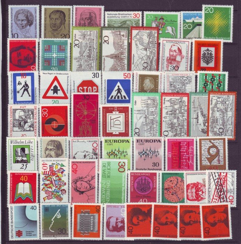 J21686 Jlstamps 1970-4 germany mnh lot #1014//1131