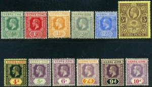 Sierra Leone KGV 1912 SG112 to SG122 Part set Mounted Mint