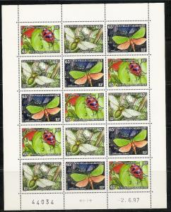 New Caledonia 761 1997 Insects m/s MHN