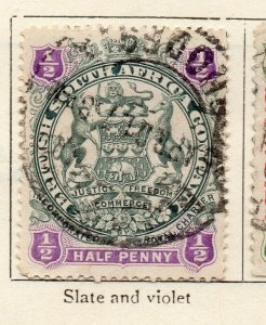 Rhodesia 1897 Early Issue Fine Used 1/2d. NW-11471