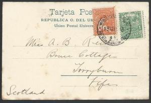 URUGUAY 1906 postcard Monevideo to Scotland................................11137