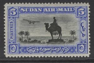 SUDAN SG57 1931 5p BLACK & ULTRAMARINE p14 MTD MINT