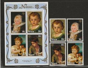 NIUE  SC# 237-40a   FVF/MNH