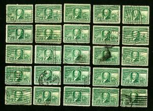 US Stamps # 323 F-VF Lot of 25 Used Catalog Value $120.00