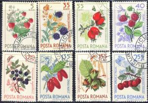 ROMANIA  SCOTT# 1703-10 1964 CTO  BERRIES   SEE SCAN