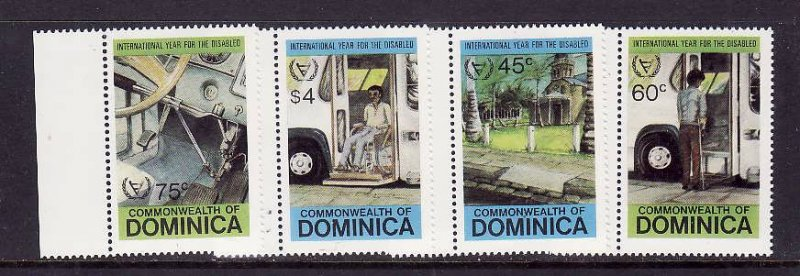Dominica-Sc#734-7-unused NH set-Year of the Disabled-id2-1981-