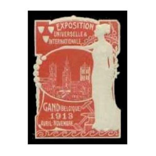 Belgium 1913 Gand International Expo Embossed Diecut(R)
