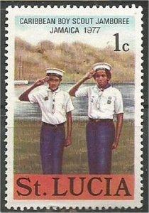 ST. LUCIA, 1977, MNH 1c, Scouts Scott 420