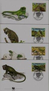 Anguilla 968 FDC WWF-97/Iguanas