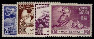MONTSERRAT GVI SG117-120, anniversary of UPU set, M MINT.