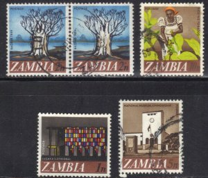 ZAMBIA SC# 39+40+42+44  **MINT&USED** 1968     SEE SCAN