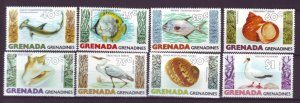 J21926 Jlstamps 1979 grenada grenadines set mnh #341-8 wildlife