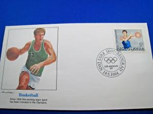 JUGOSLAVIA FIRST DAY COVERS - LOT OF 7 - 1984 - LOS ANGELES OLYMPICS   (FG 4)