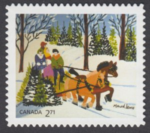 Canada - *NEW* Christmas 2020, Maud Lewis, Die Cut  From Quarterly Pack - MNH