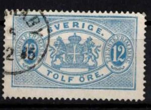 Sweden - SGO34a - 12ö Official stamp perf.13. CV 27£ (approx 31.30 Eur)