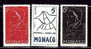 Monaco 306-08 MH 1954 set    (ap2888)