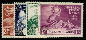 PITCAIRN ISLANDS SG13-16, COMPLETE SET, VERY FINE USED. Cat £15.