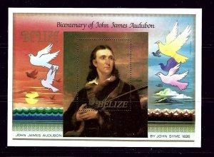 Belize 756 MNH 1985 Bicentennial of John James Audobon  S/S